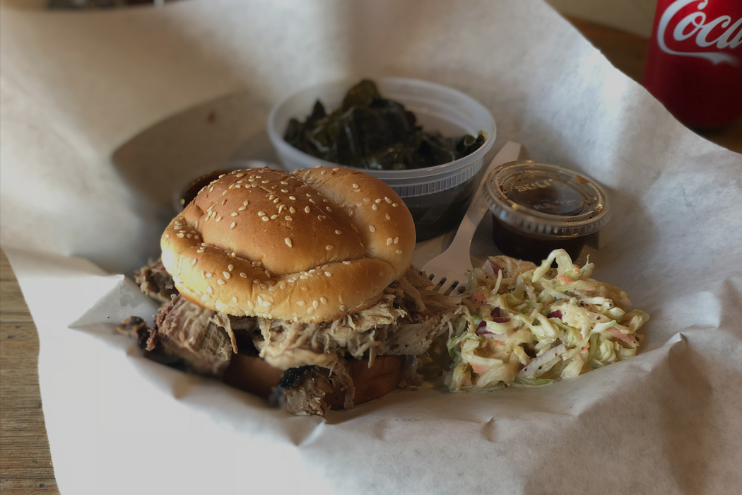 Jordan Springs Market, Pulled Pork Sandwich, Stephenson, Va